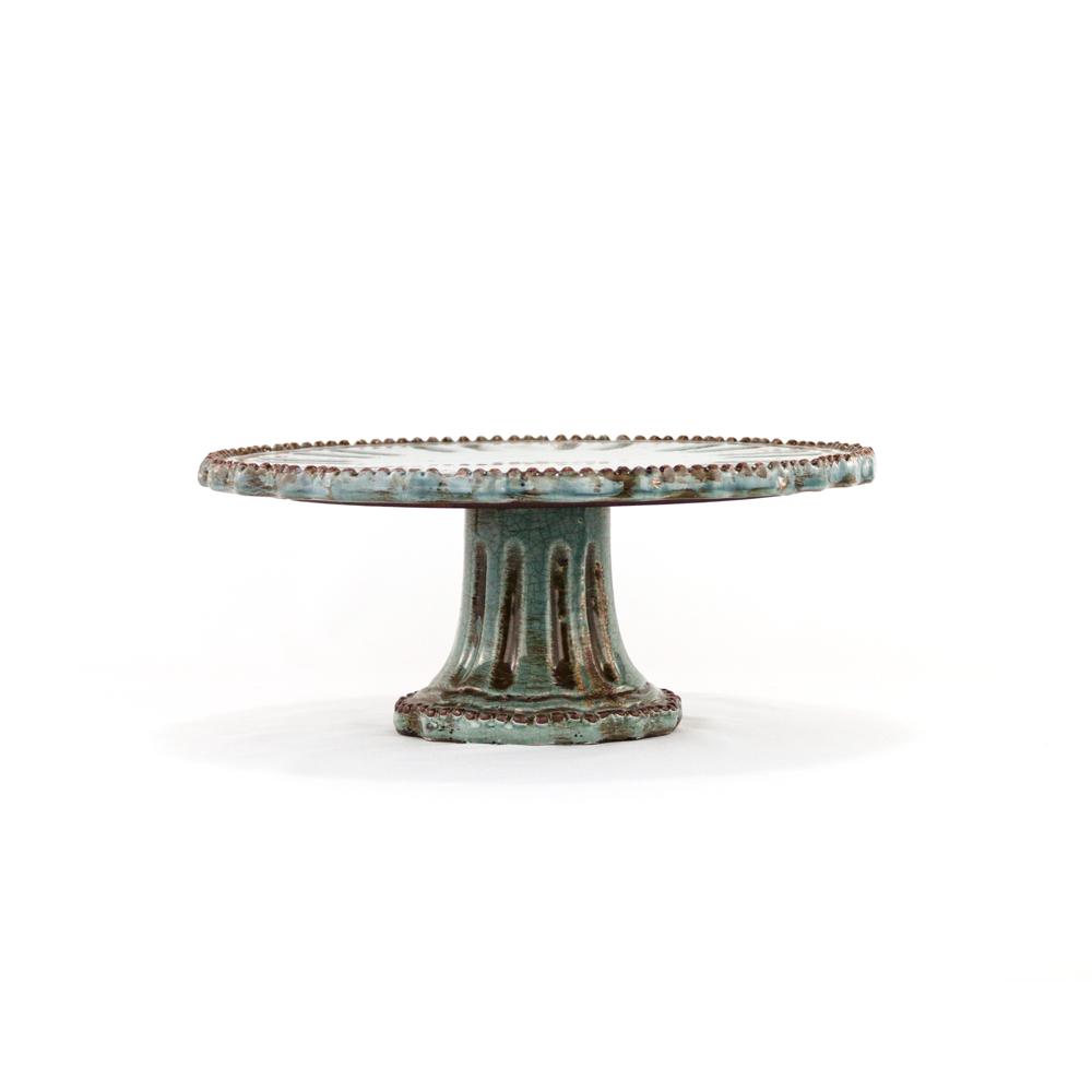 Blue Pottery Cake Stand  sc 1 st  Platt Designs & Blue Pottery Cake Stand - Decorative Ceramic Raised StandPlatt Designs