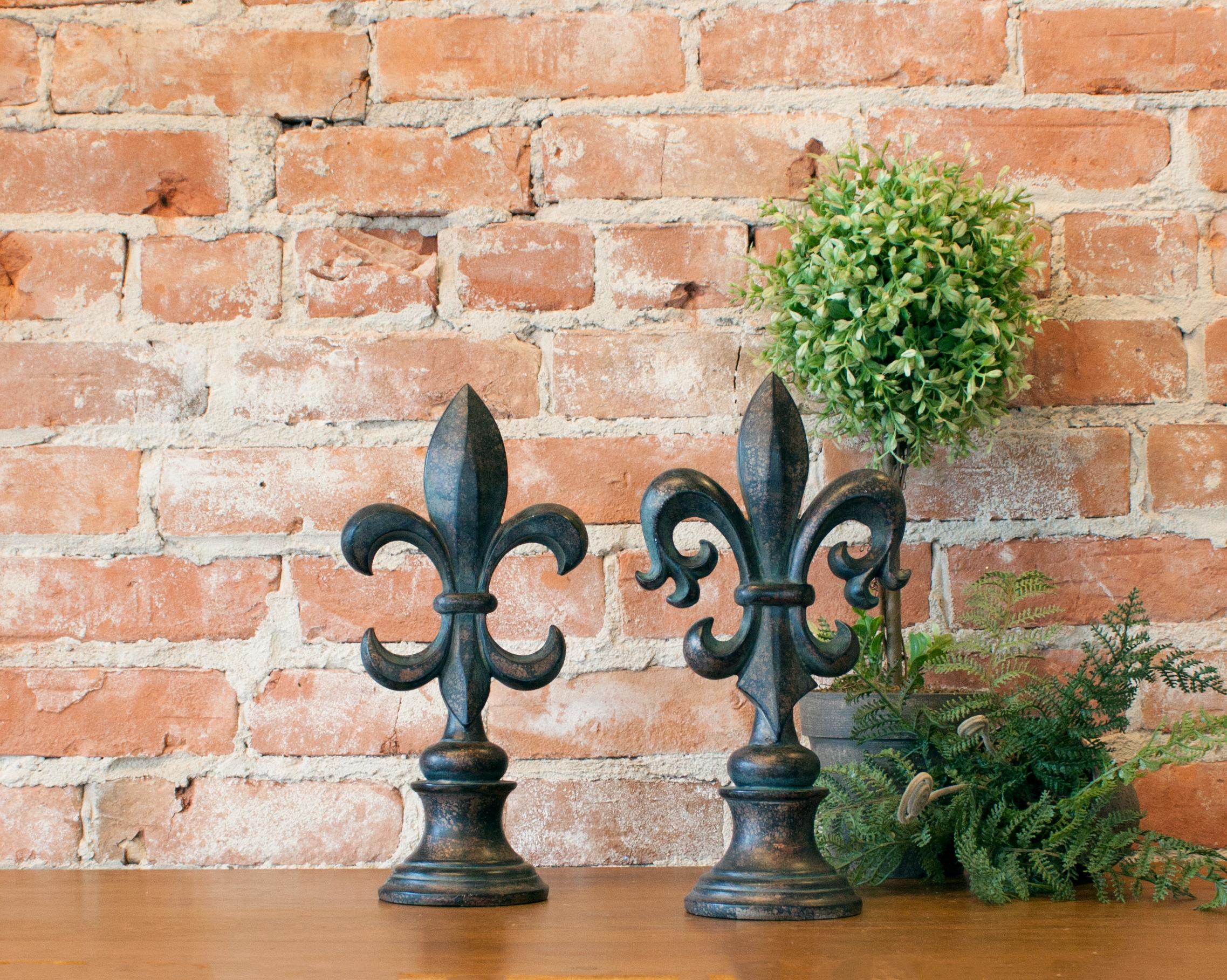 Bronze Fleur De Lis Finials Decorative Fleur De Lis