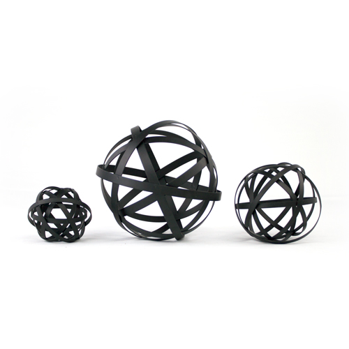 Metal Decorative Balls Unique Black Metal Sphere Set Decorative Metal Orbs Set Of Threeplatt Decorating Design