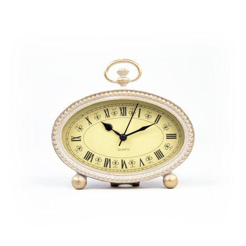 Small Gold Metal Clock Decorative Table Or Shelf Clockplatt Designs