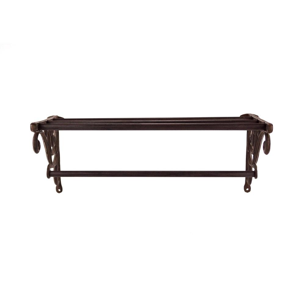 Decorative scroll metal wall shelf