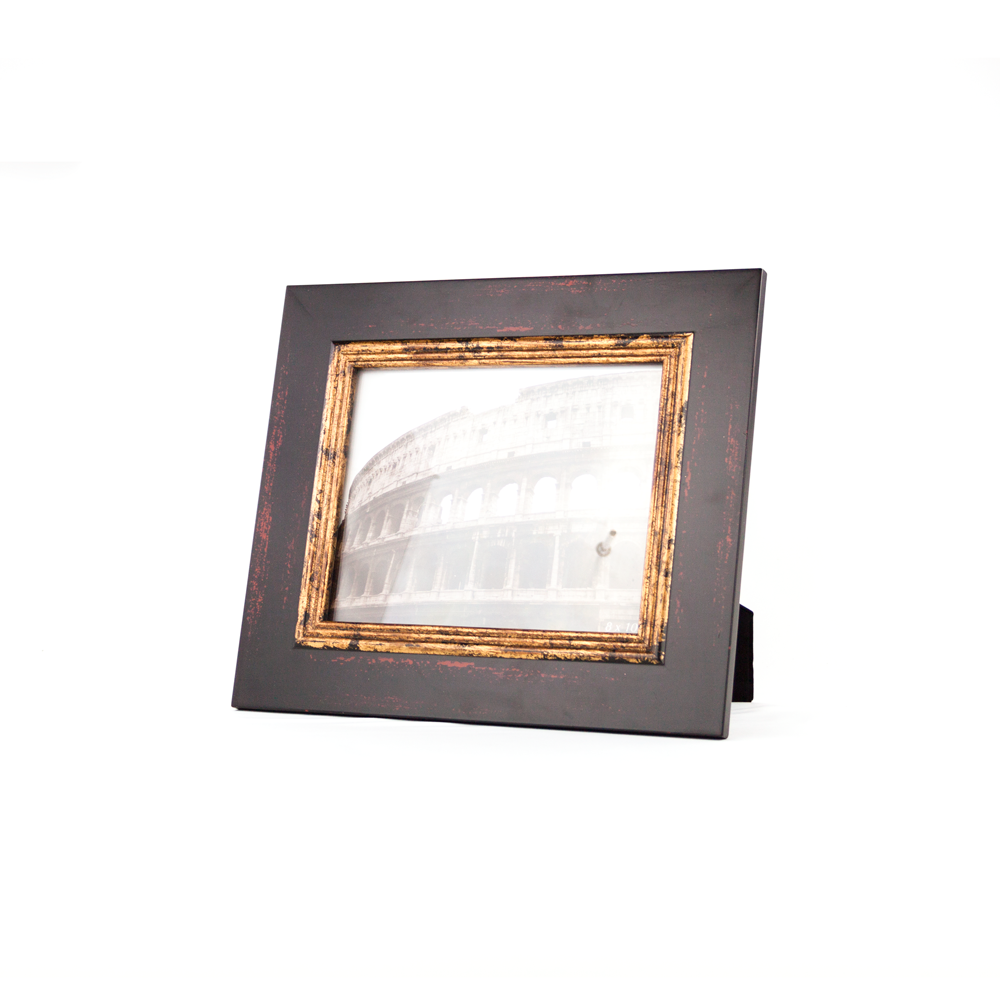 8 X 10 Black Gold Distressed Family Photo Framewooden Photo