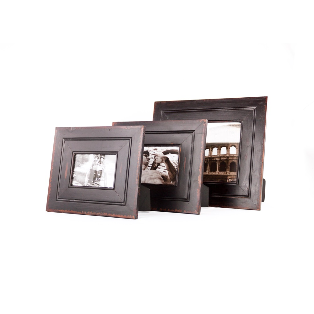 5 X 7 Black Wooden Family Photo Frame Black Picture Frameplatt Designs
